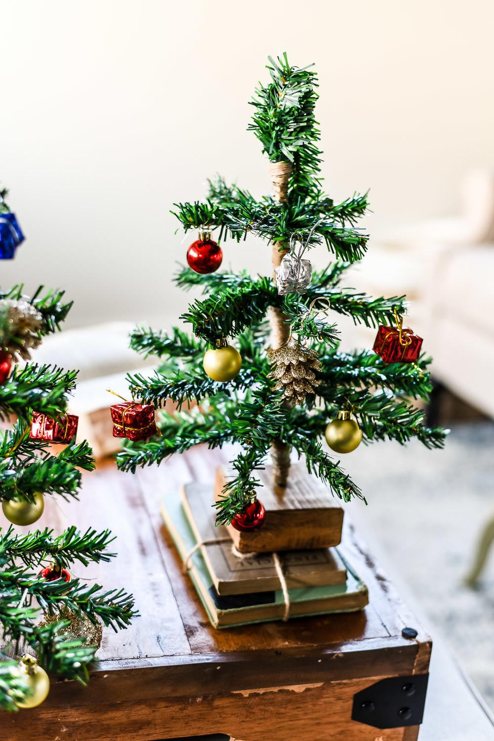 Diy Mini Tabletop Christmas Tree Weathered Fox