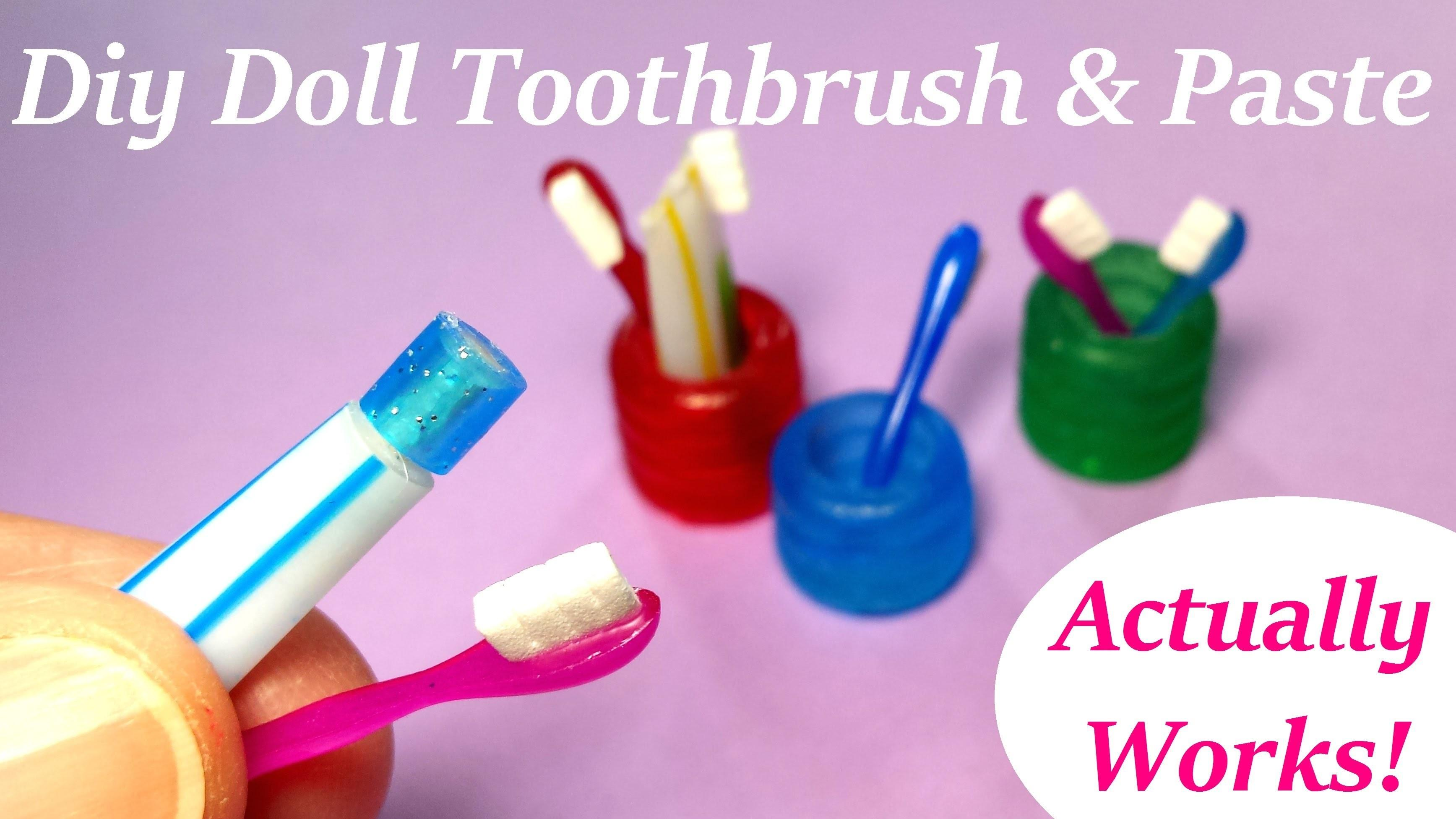 Diy Miniature Doll Toothbrush Holder Working