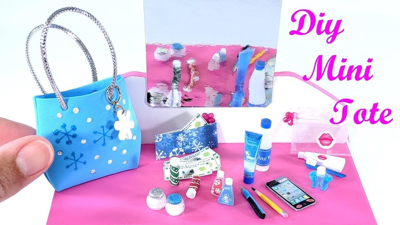 Diy Miniature Tote Purse Bag Beauty Accessories