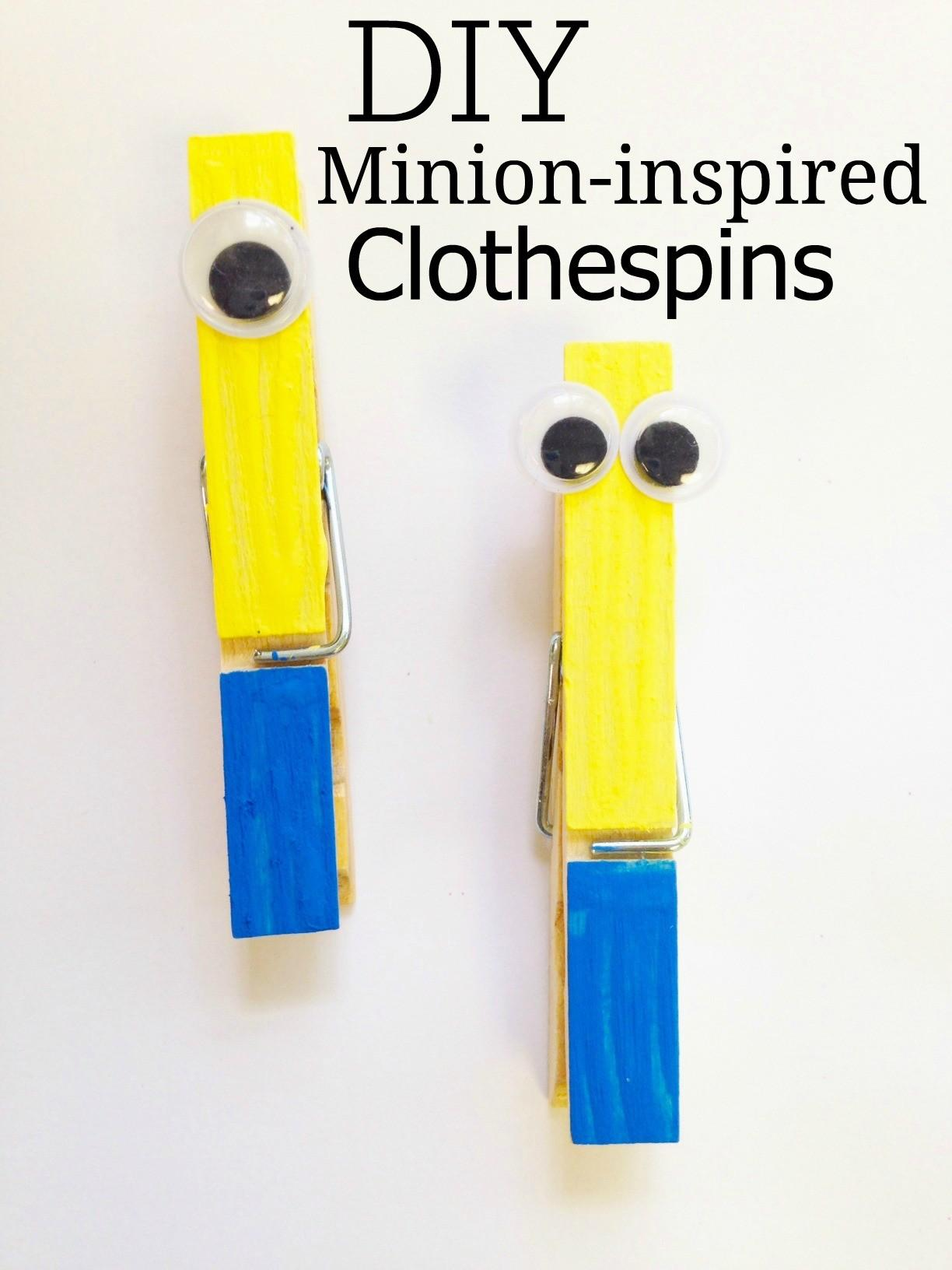 Diy Minion Inspired Clothespin Craft