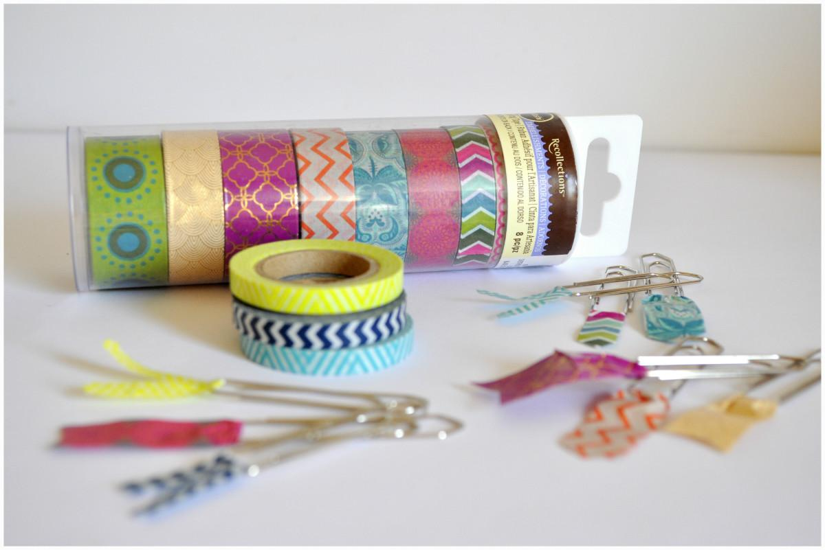 Diy Minutes Crafts Fun Washi Tapes Bookmarks