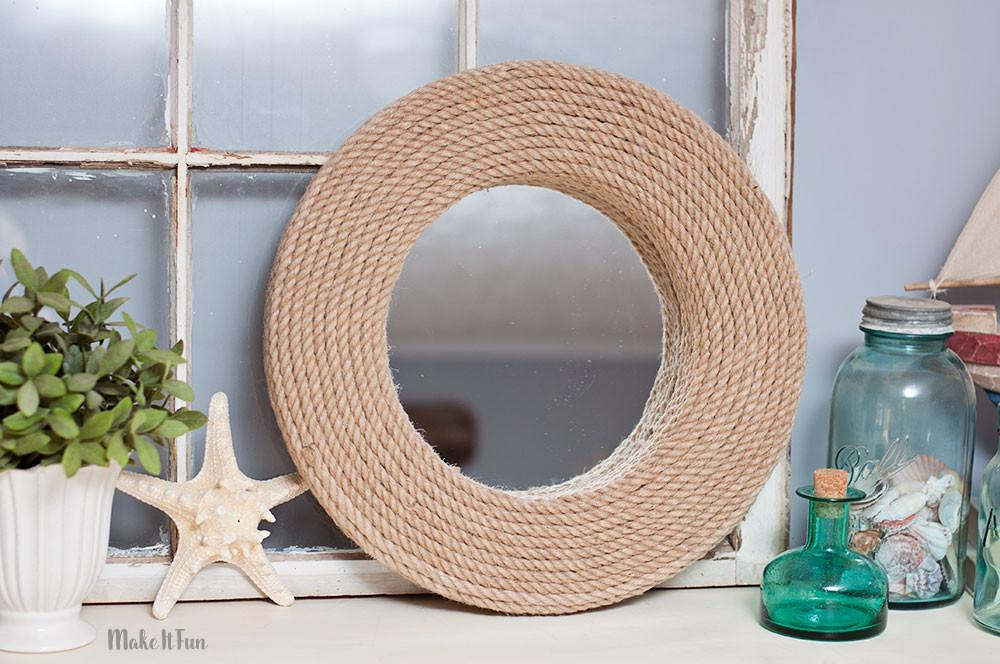 Diy Mirror Project Nautical Style