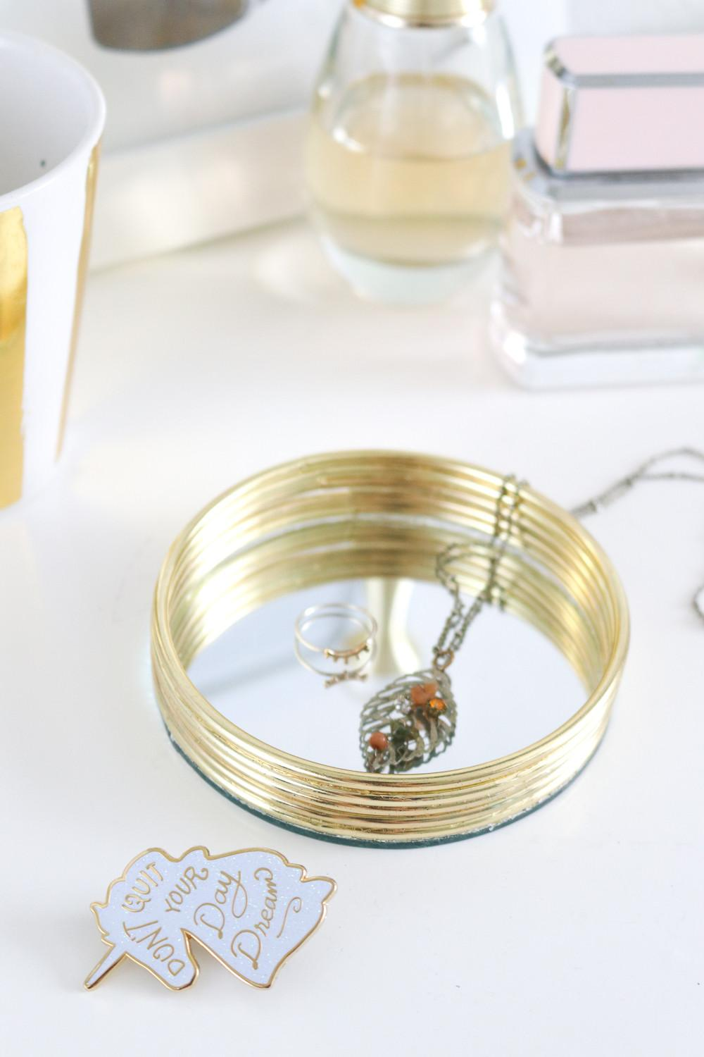Diy Mirrored Trinket Tray Club Crafted