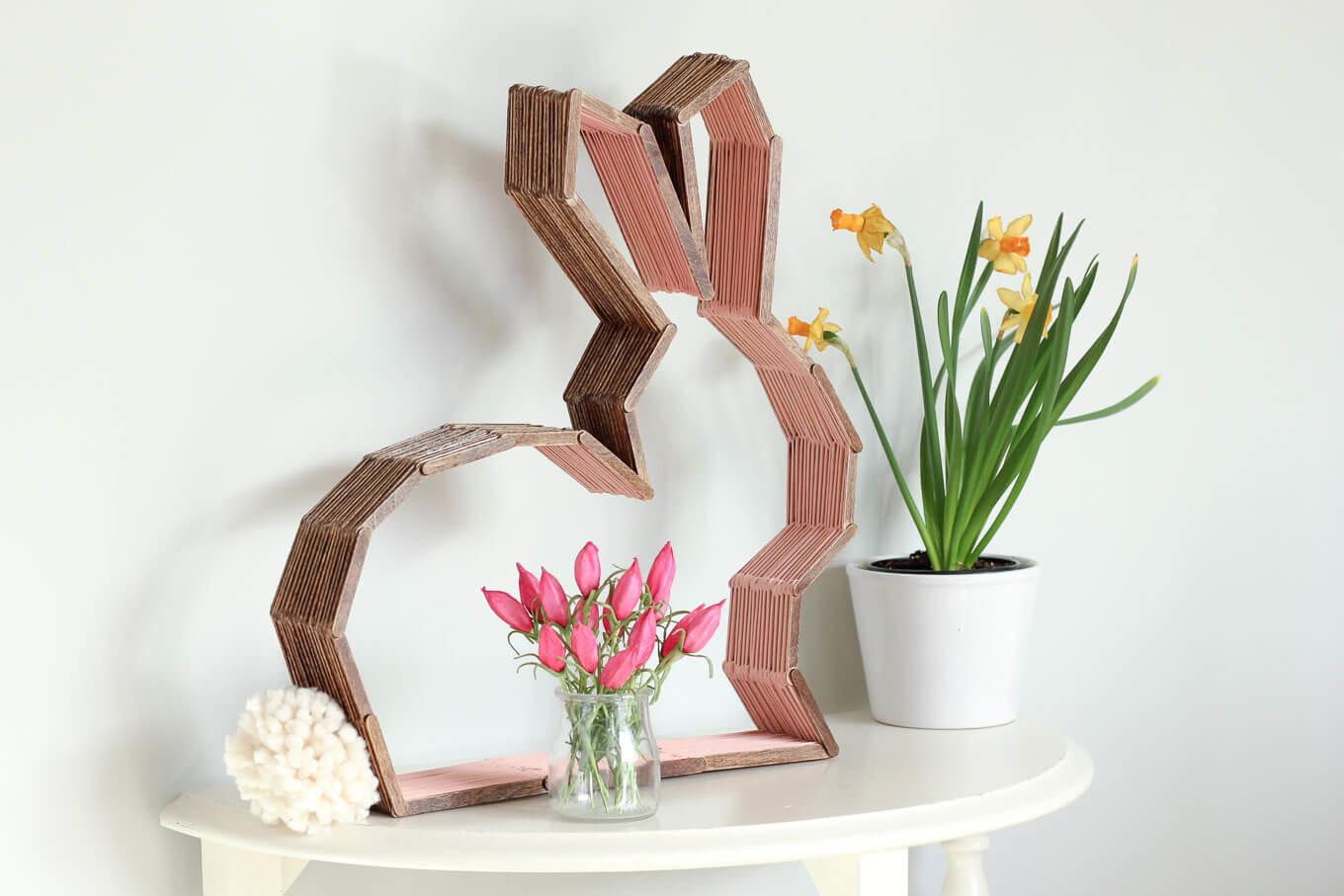 Diy Modern Bunny Wall Decor Perfect Easter Nursery