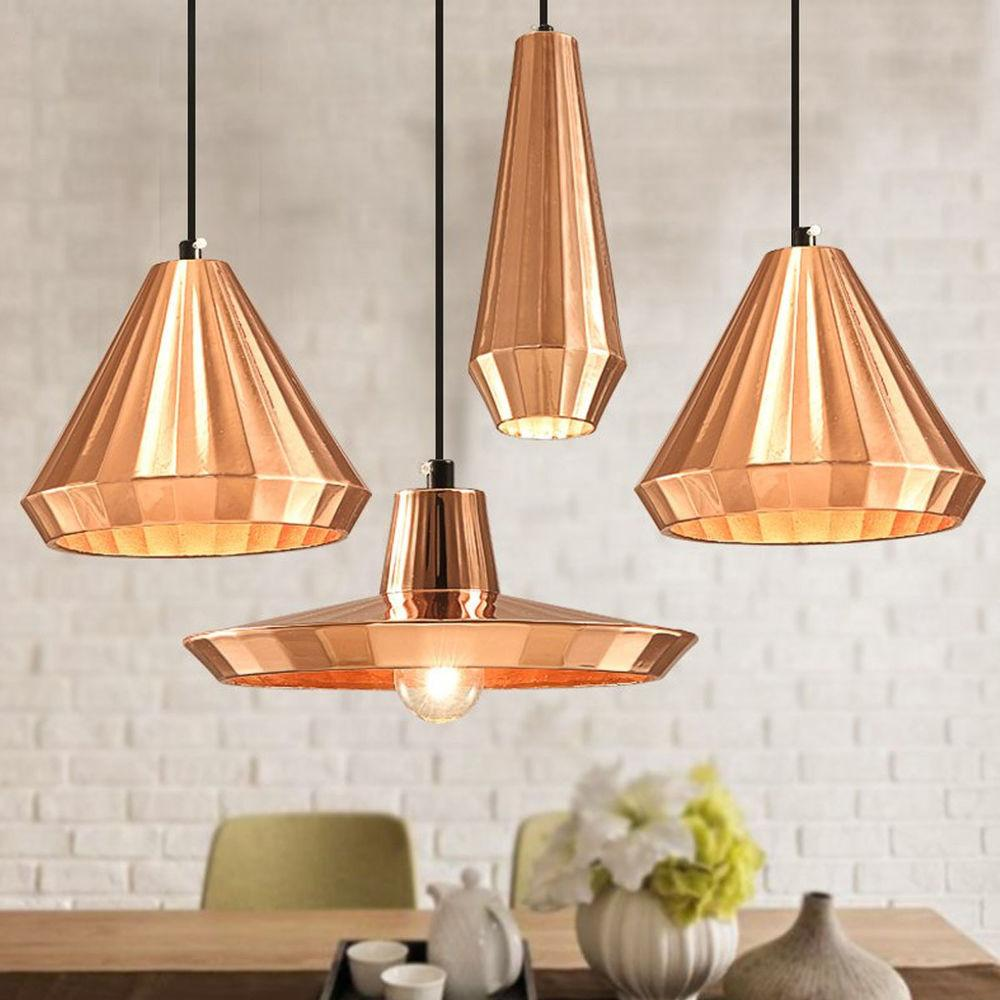 Diy Modern Polished Pendant Lamp Shade Ceiling Light