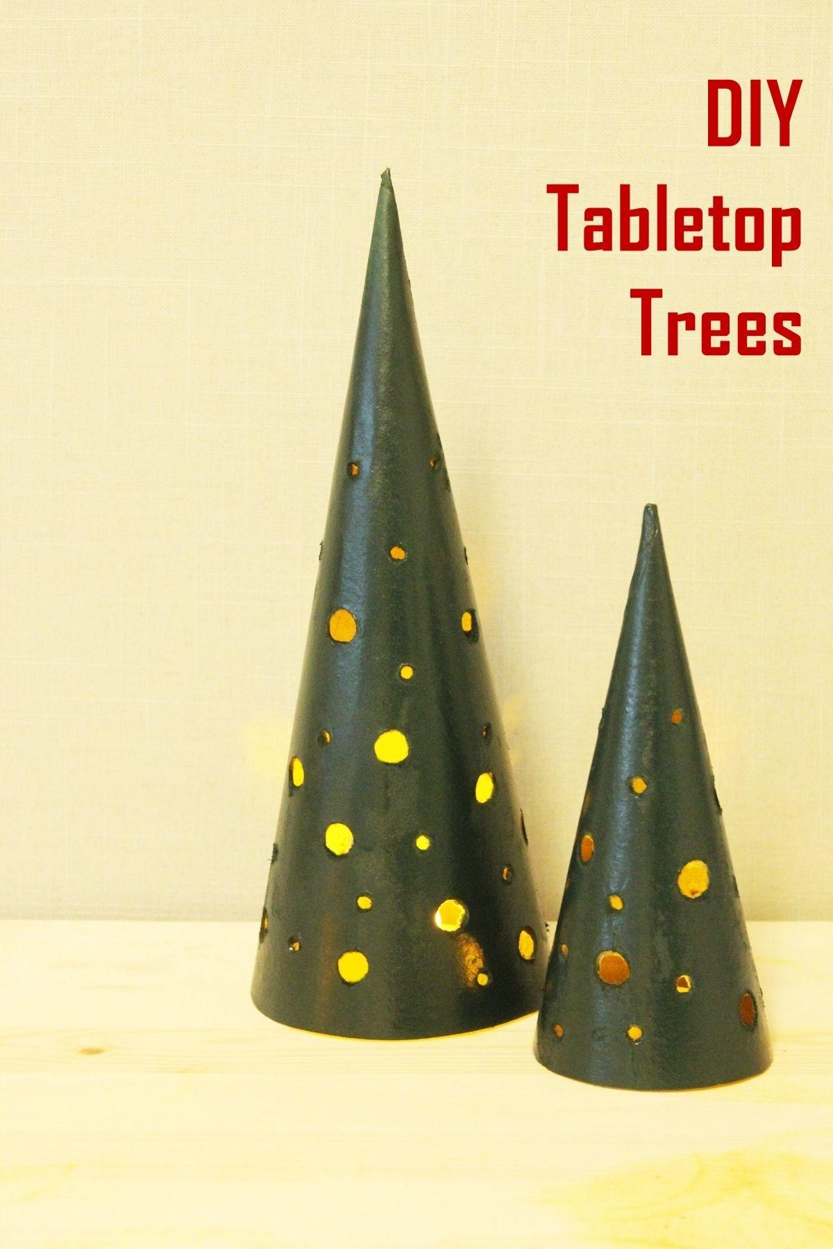 Diy Modern Tabletop Christmas Trees