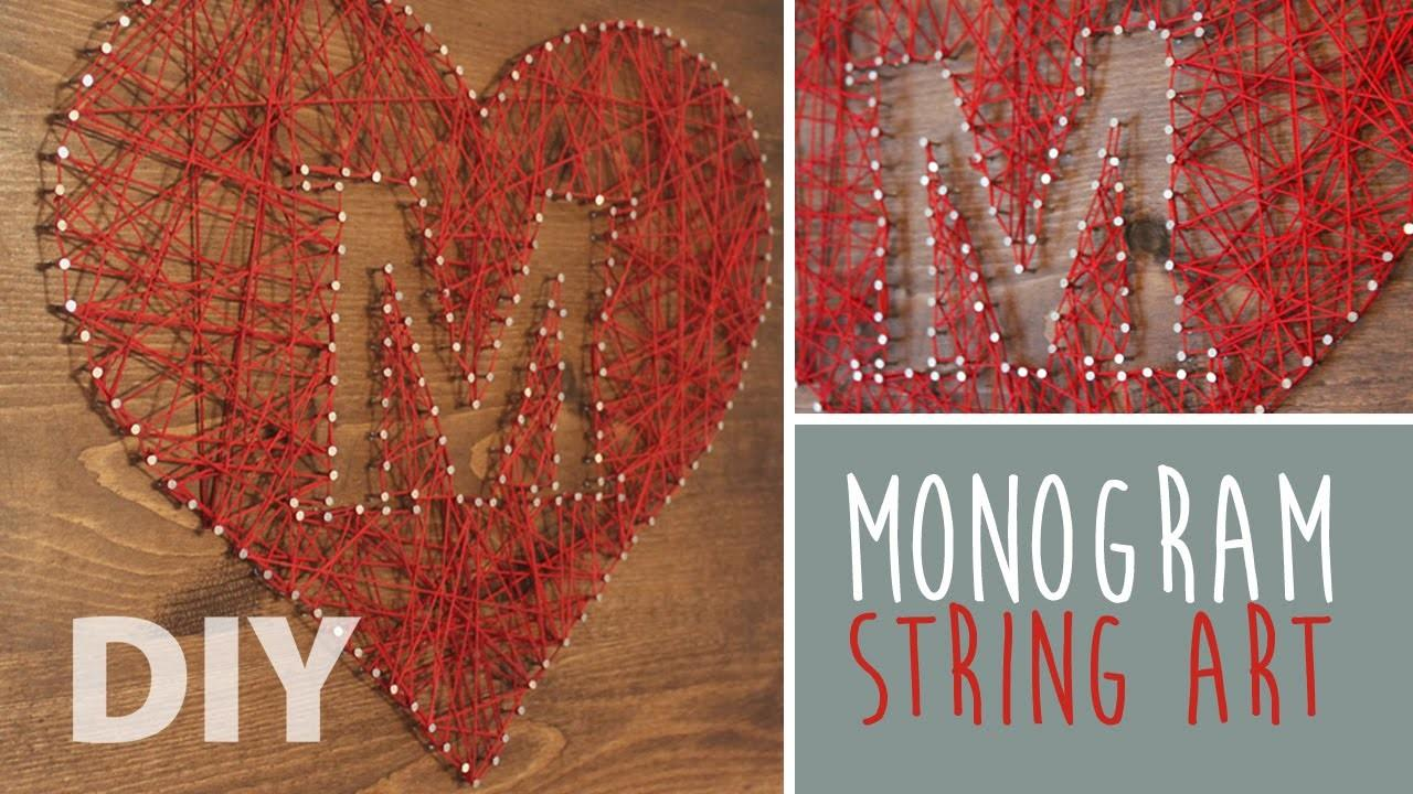 Diy Monogram String Art Artsypaints