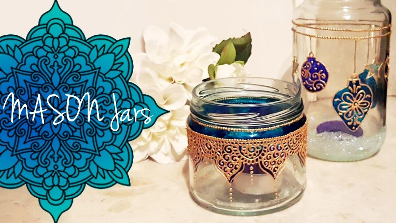 Diy Moroccan Inspired Christmas Mason Jar Lanterns Bee