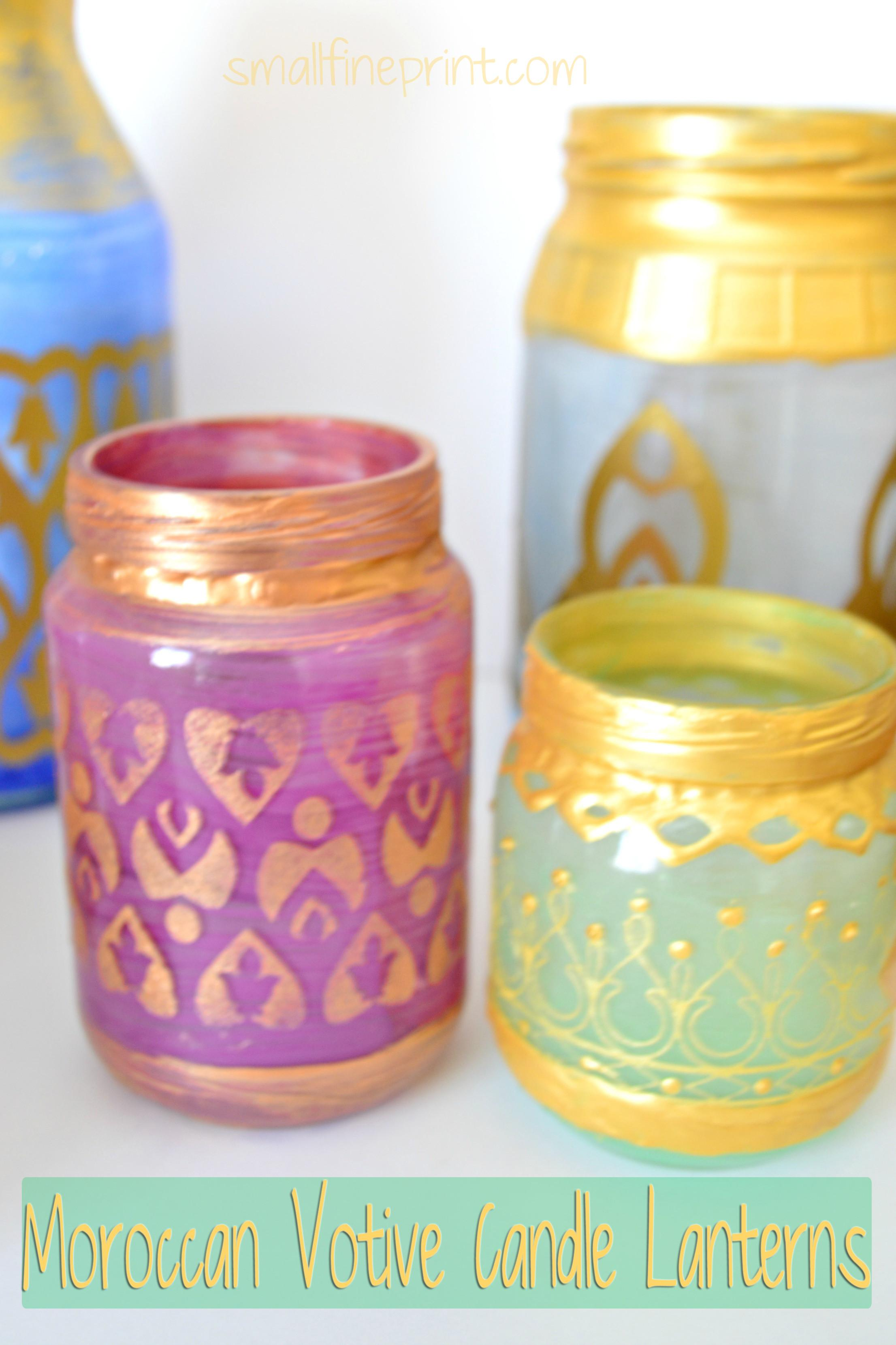 Diy Moroccan Votive Candle Lanterns Smallfineprint
