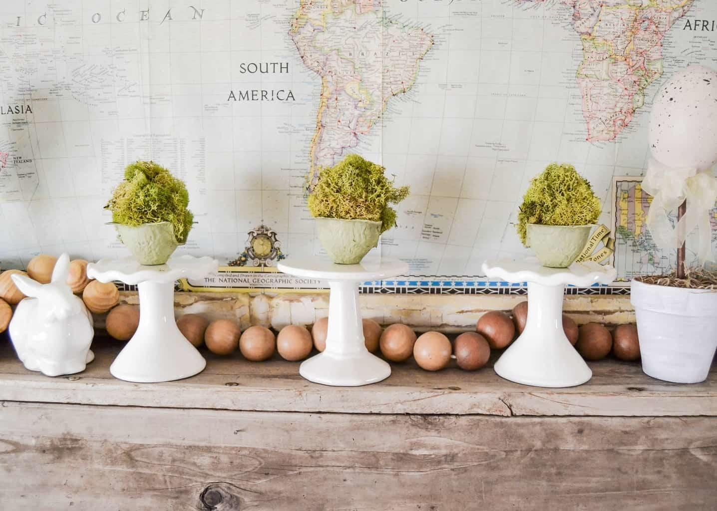 Diy Mossy Spring Easter Eggs Creative Days