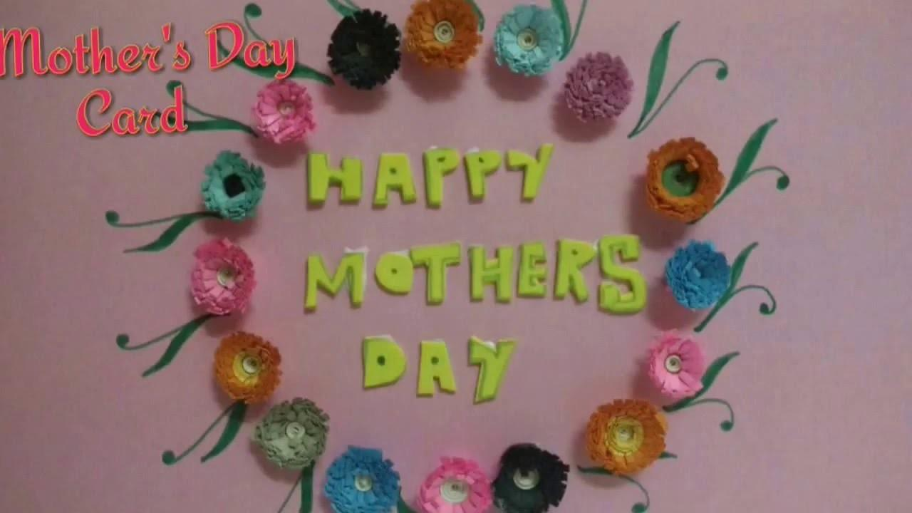 Diy Mother Day Card Making Idea Paper Quilled
