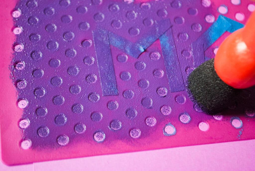 Diy Mother Day Card Using Polka Dot Stencil