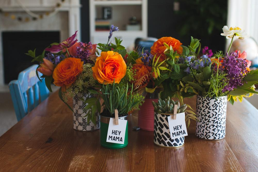 Diy Mother Day Flower Arrangements Vases Freebies