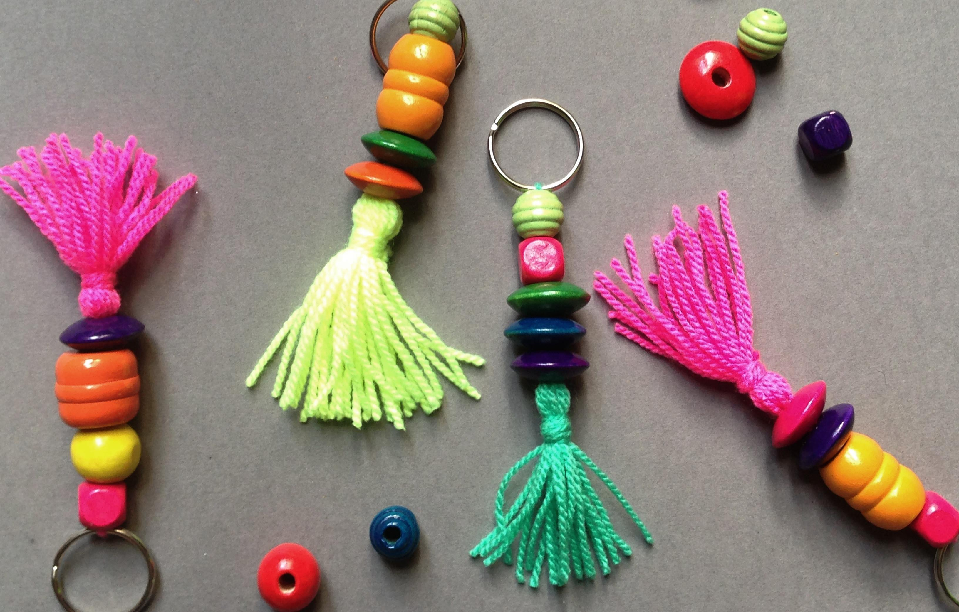 Diy Mother Day Keyring Easy Macaroni Necklace