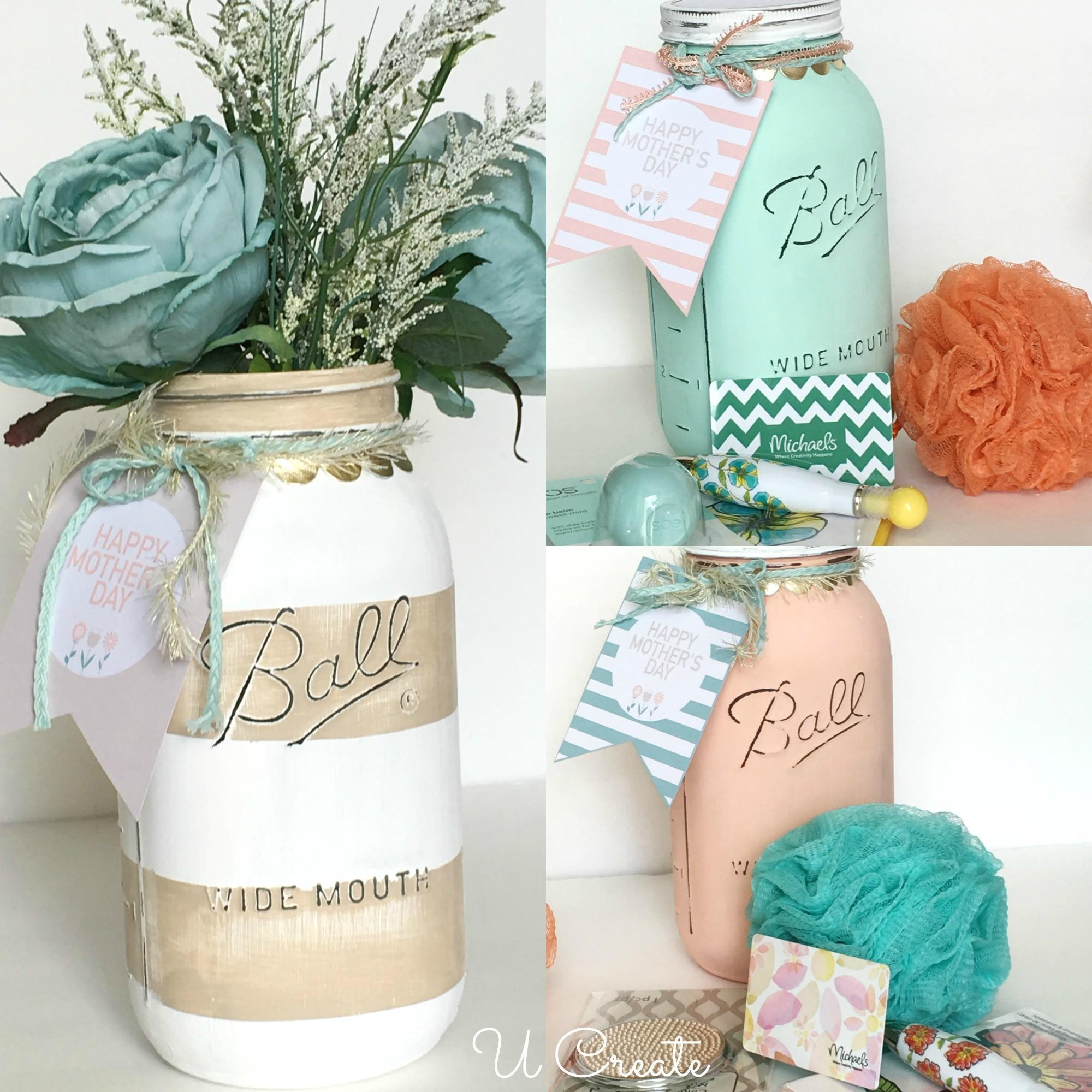 Diy Mother Day Mason Jars