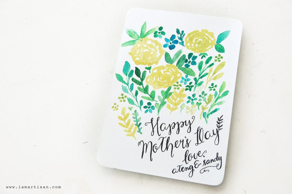 Diy Mother Day Watercolor Printable Card Iamartisan