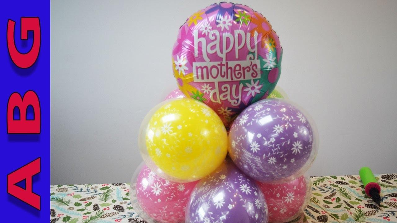 Diy Mothers Day Gift Balloon Decoration Tutorial Idea Easy