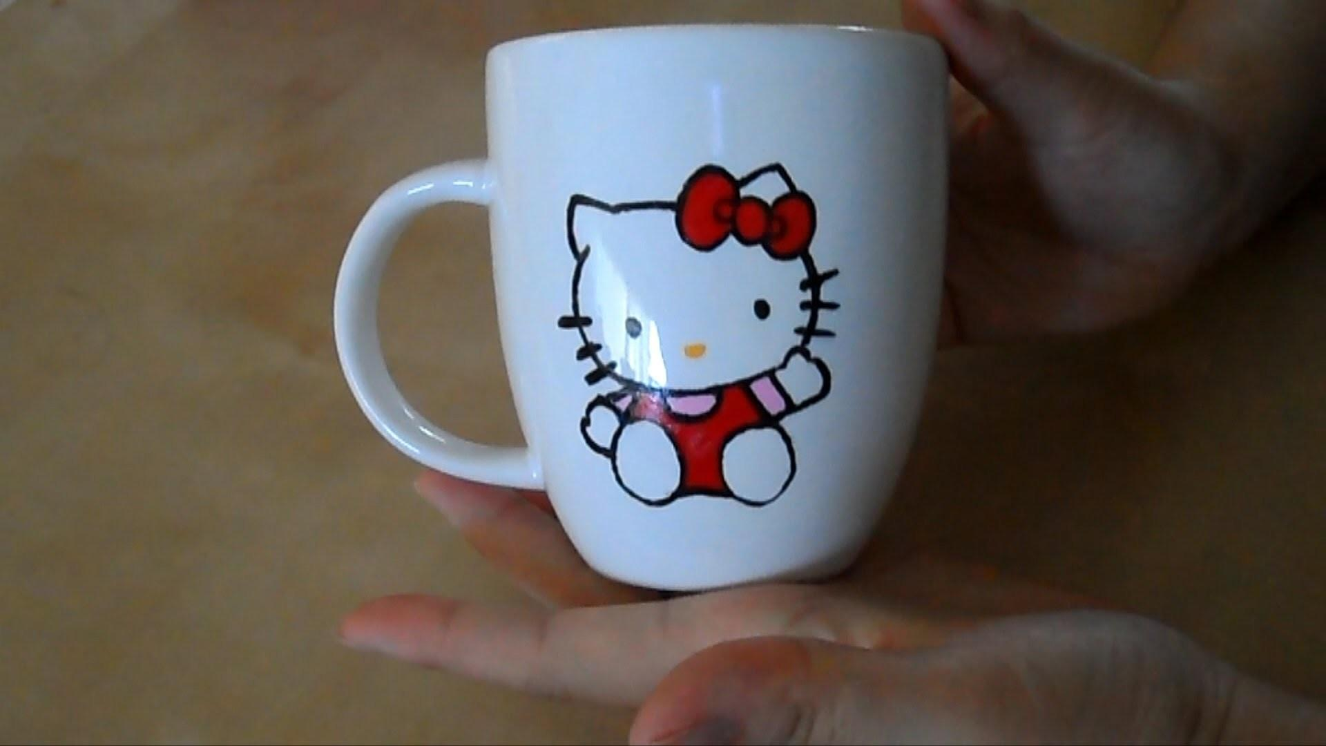 Diy Mug Painting Hello Kitty