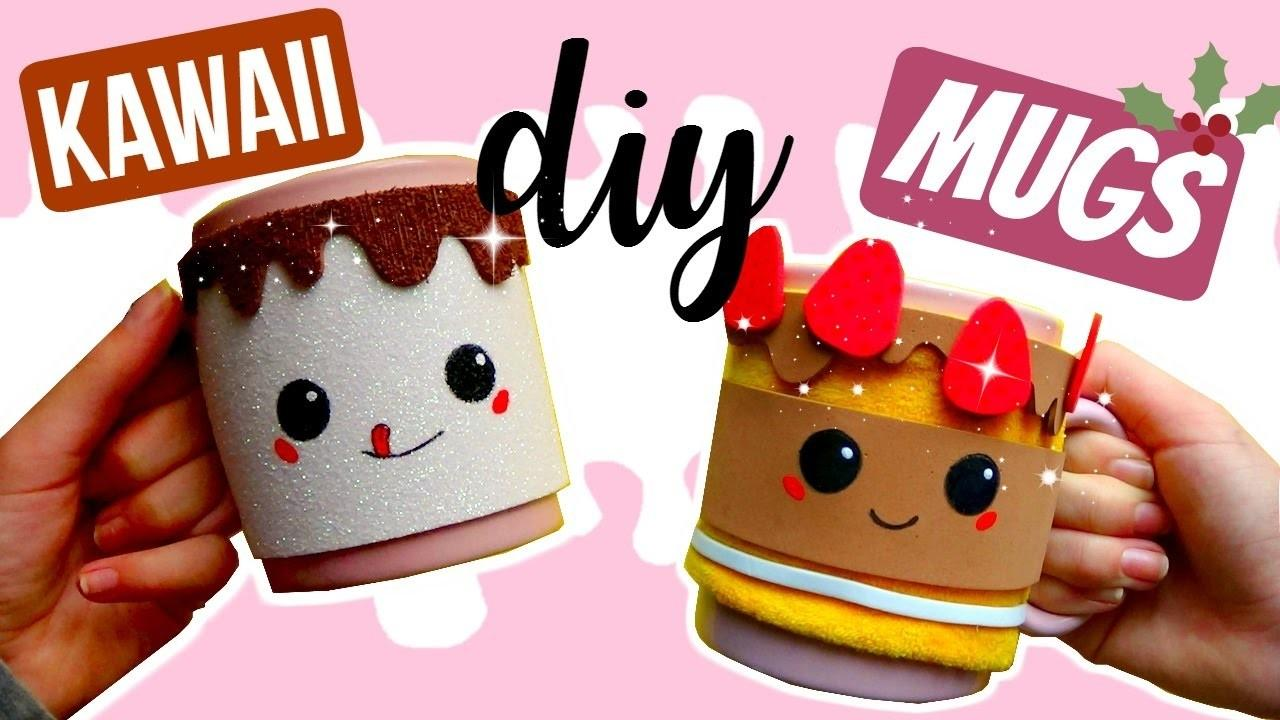 Diy Mug Warmers Cozies Kawaii Cake Marshmallow