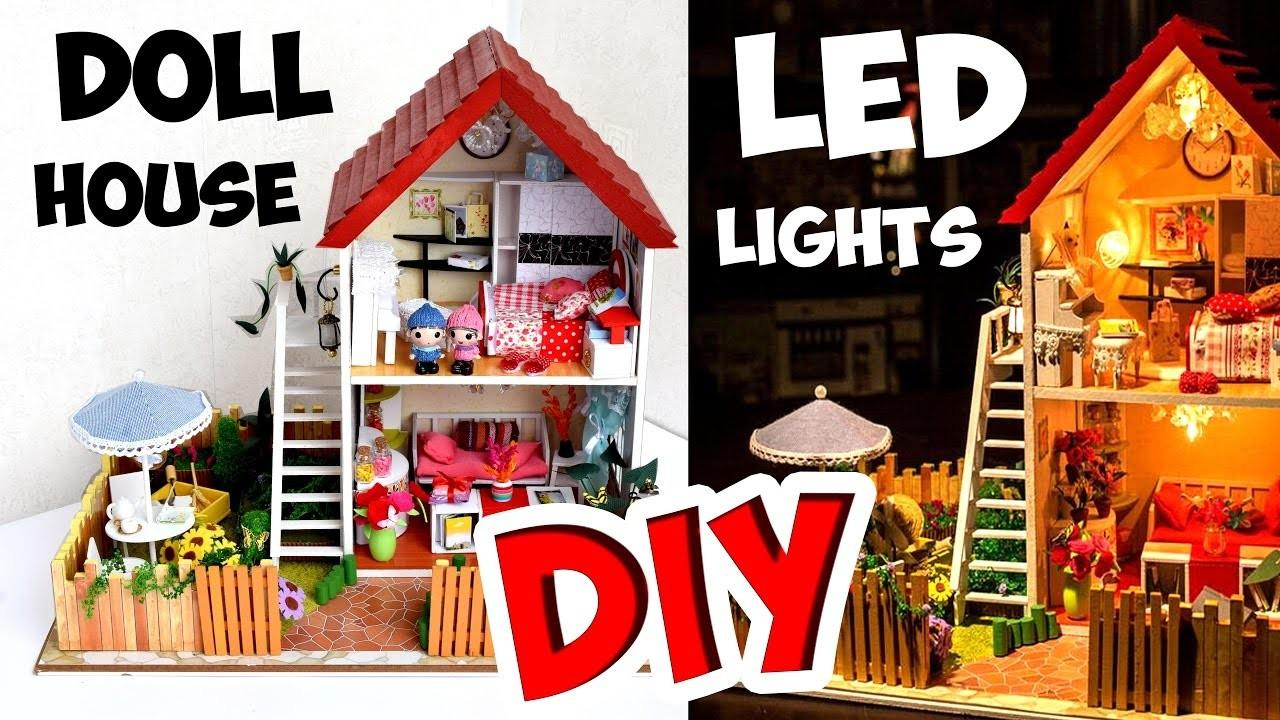 Diy Musical Miniature Doll House Led Lights Darling