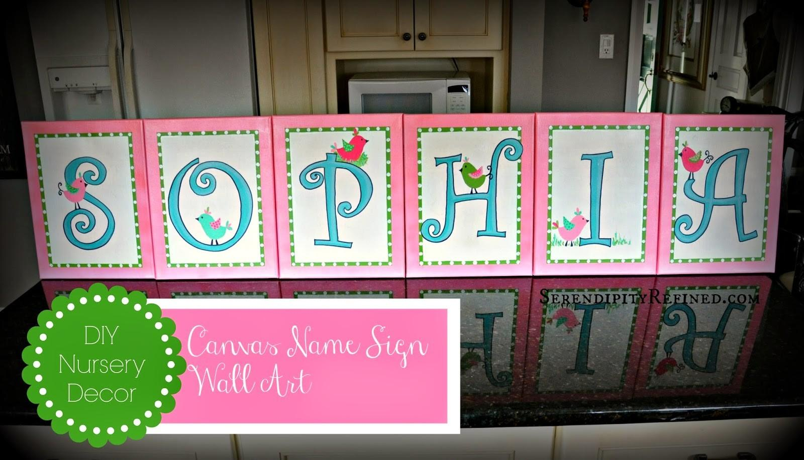 Diy Name Wall Art Nursery Decal