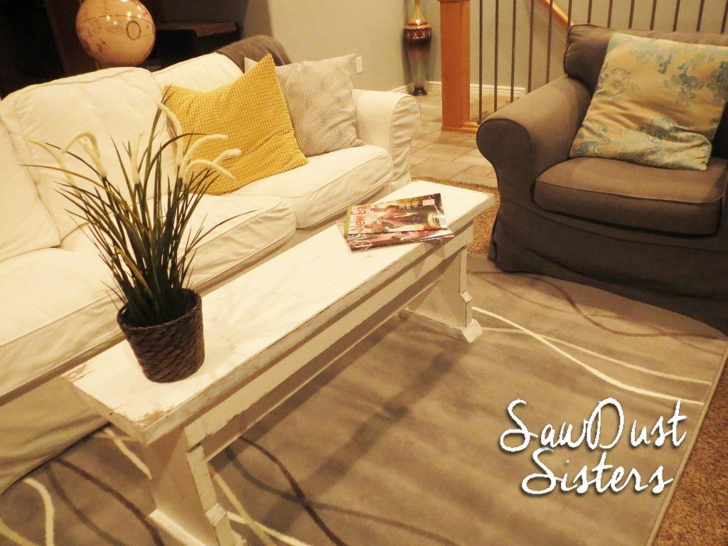 Diy Narrow Coffee Table Country Bench Tutorial Shanty