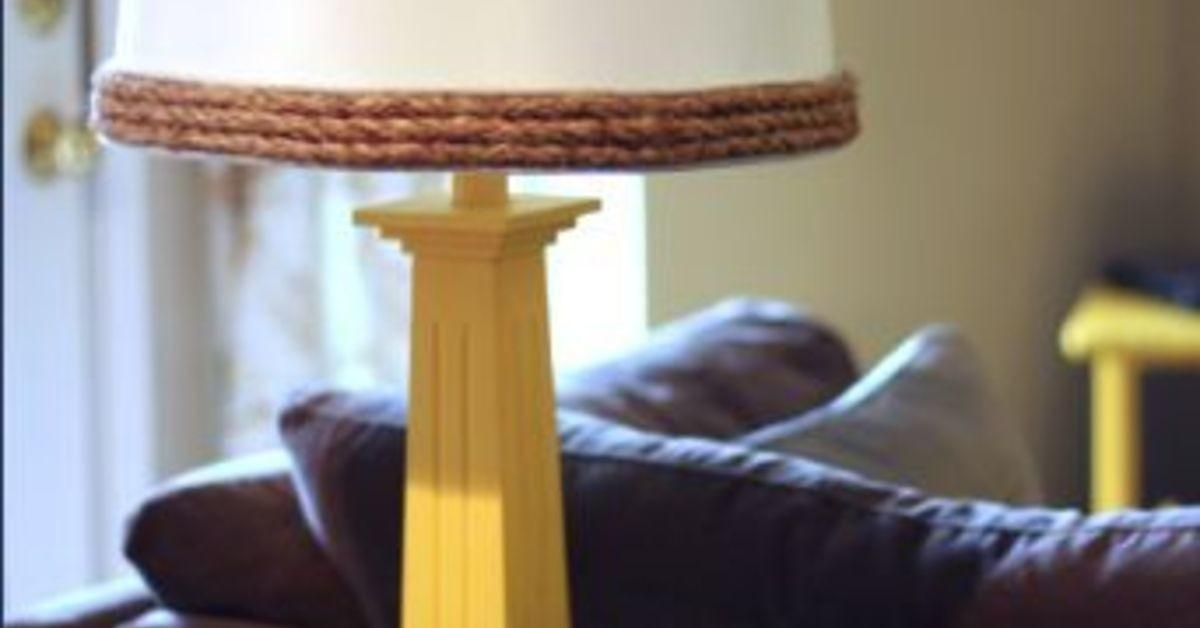 Diy Nautical Rope Lamp Shade Hometalk