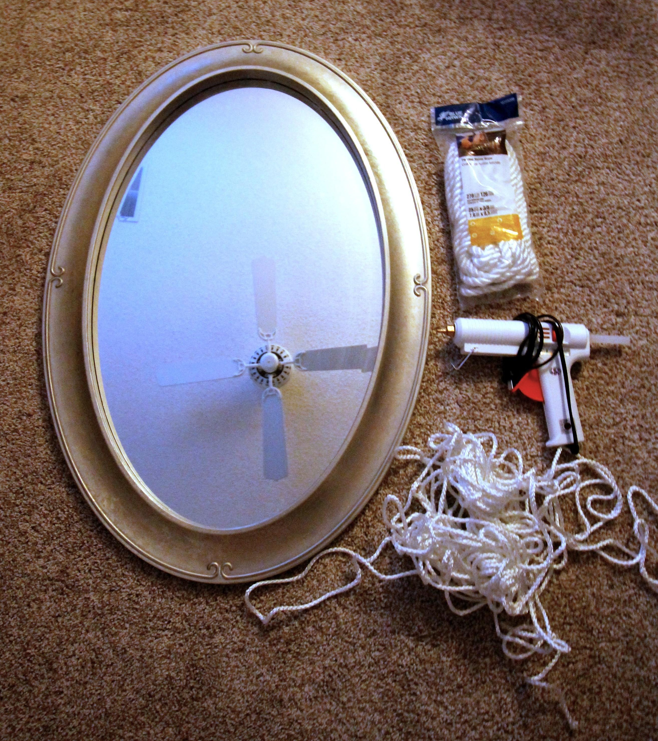 Diy Nautical Round Rope Mirror Frame Tutorial Charleston