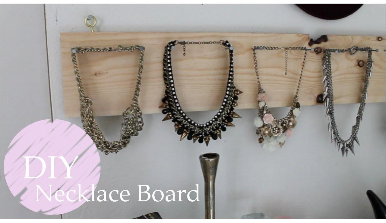 Diy Necklace Board Jewelry Display Part