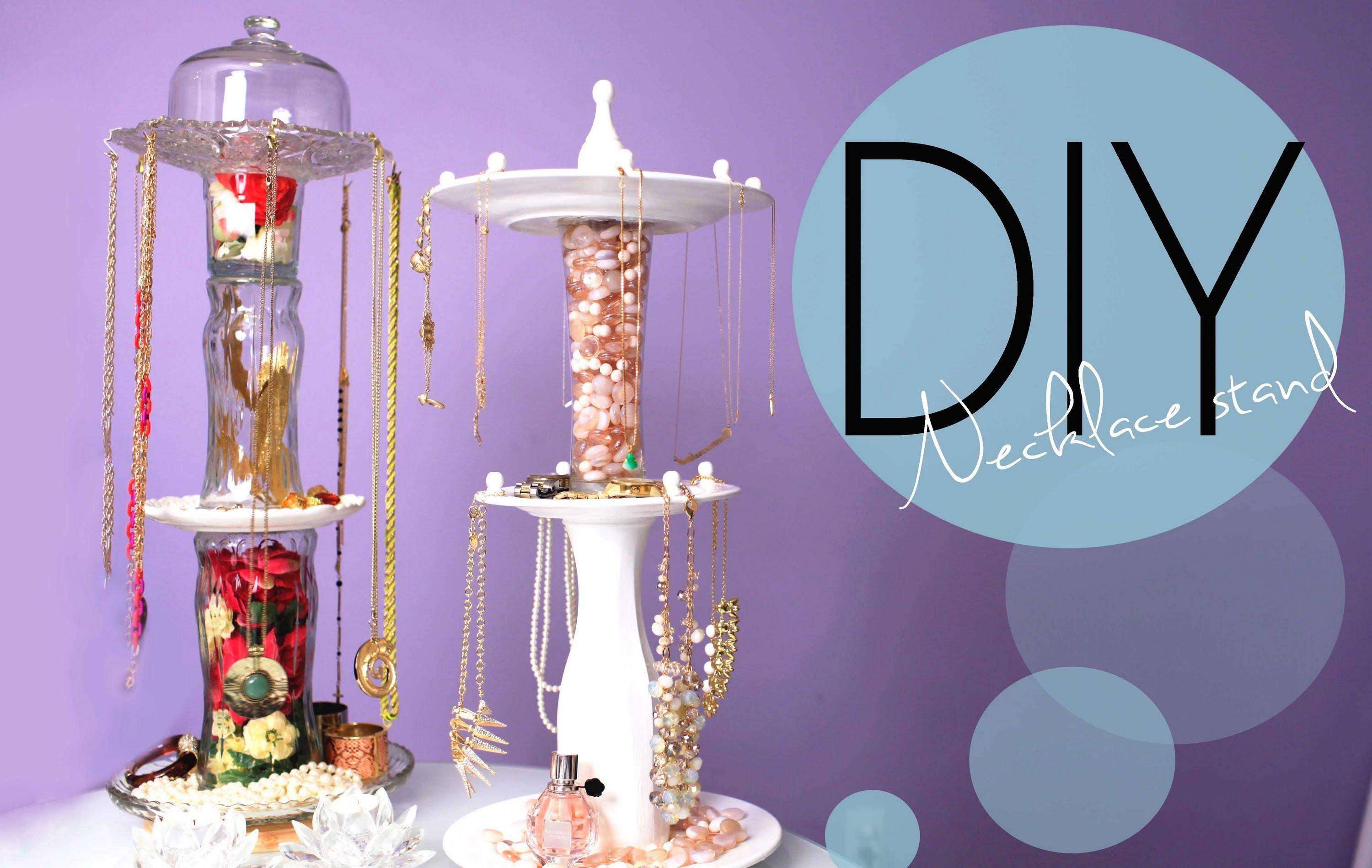 Diy Necklace Jewelry Display Spinning Stand