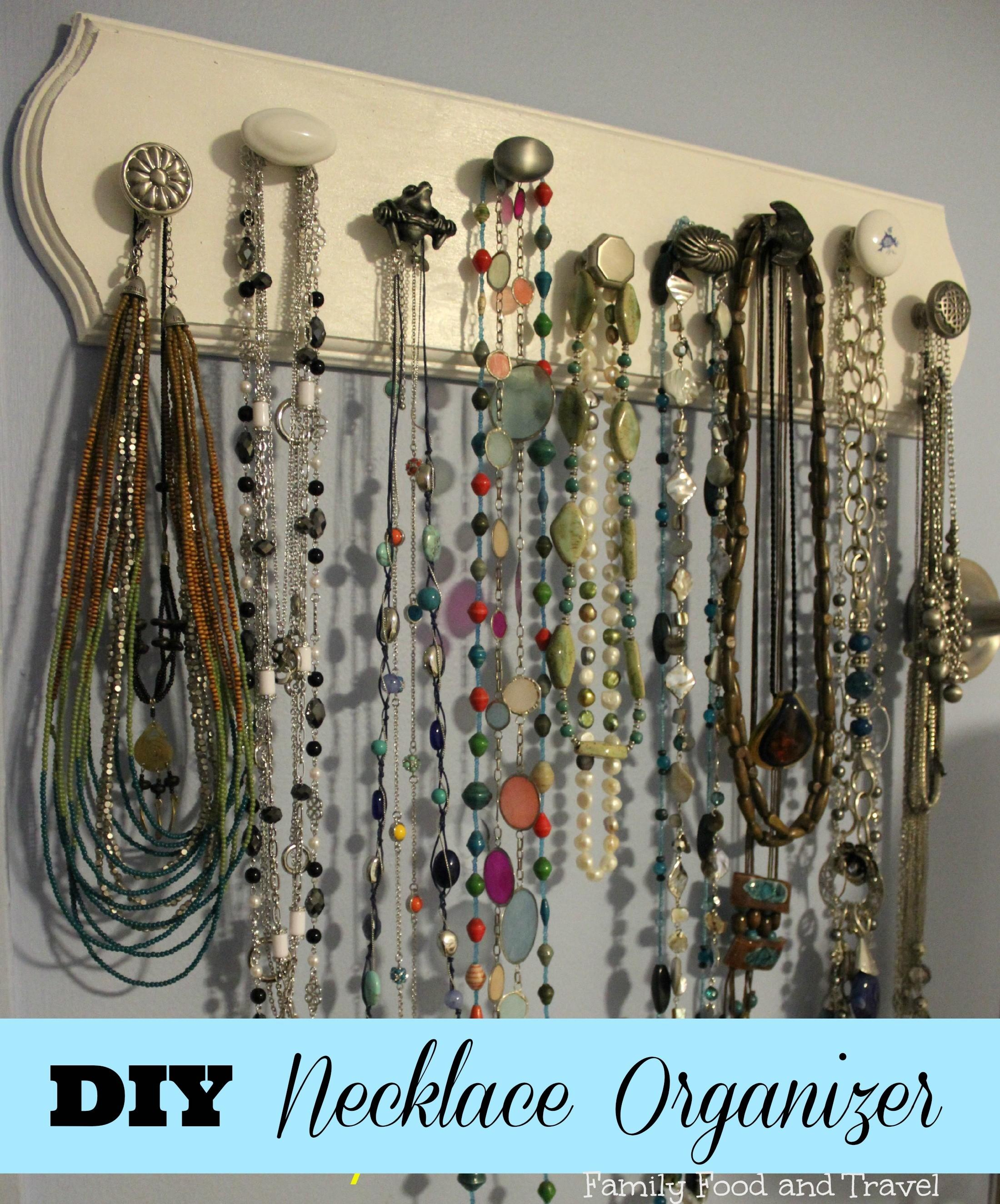 Diy Necklace Organizer Family Food Travel