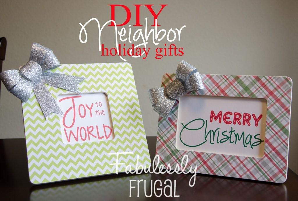Diy Neighbor Friend Gift Holiday Frame Fabulessly