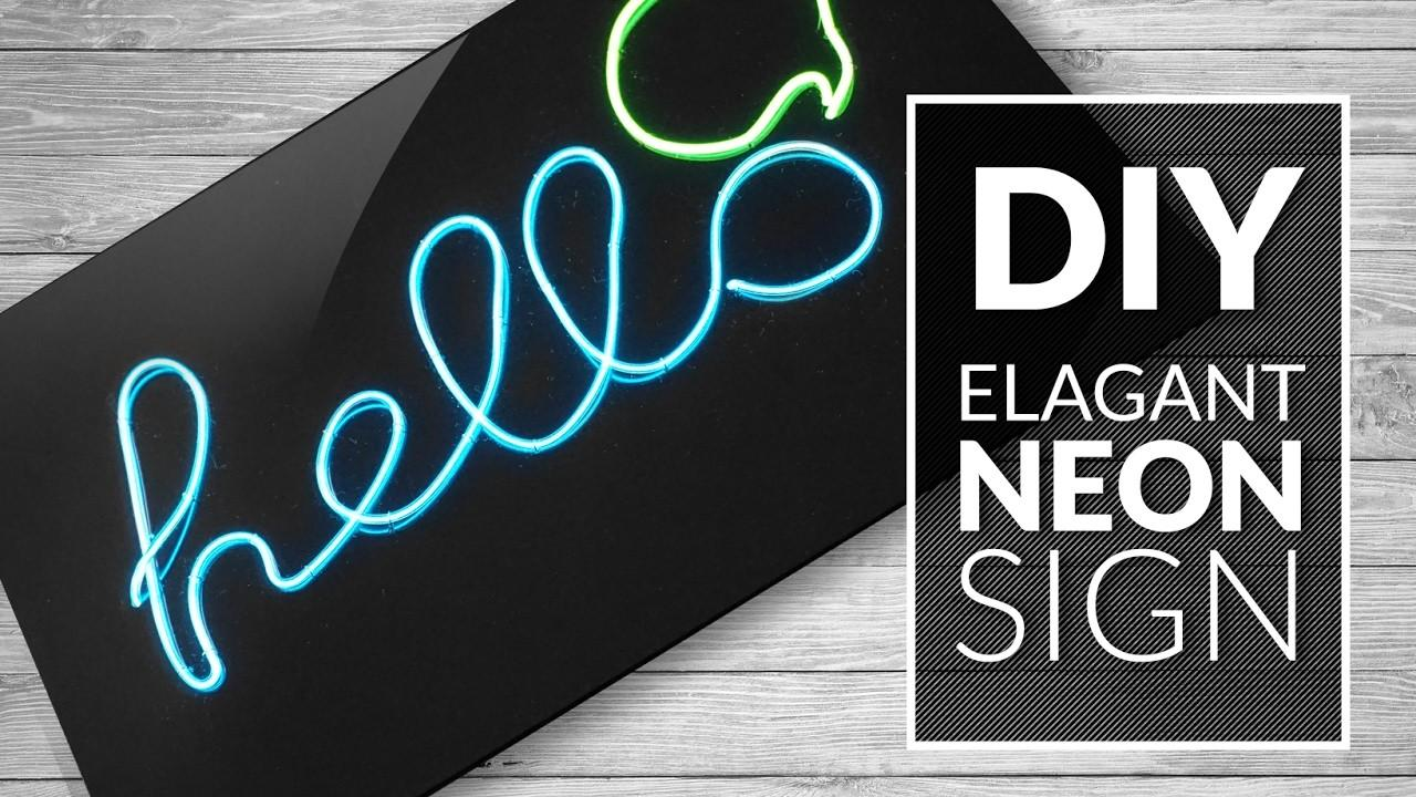 Diy Neon Sign Elegant Multicolor Room Decor