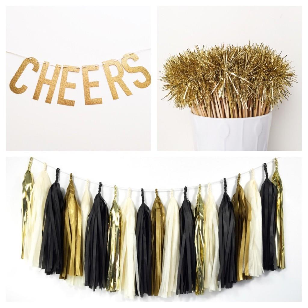 Diy New Years Eve Party Wedding Ideas Gold Glitter