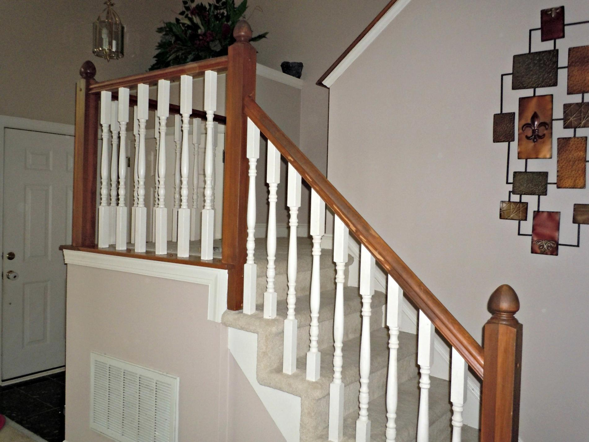 Diy Oak Banister Makeover Semi Domesticated Mama Featured