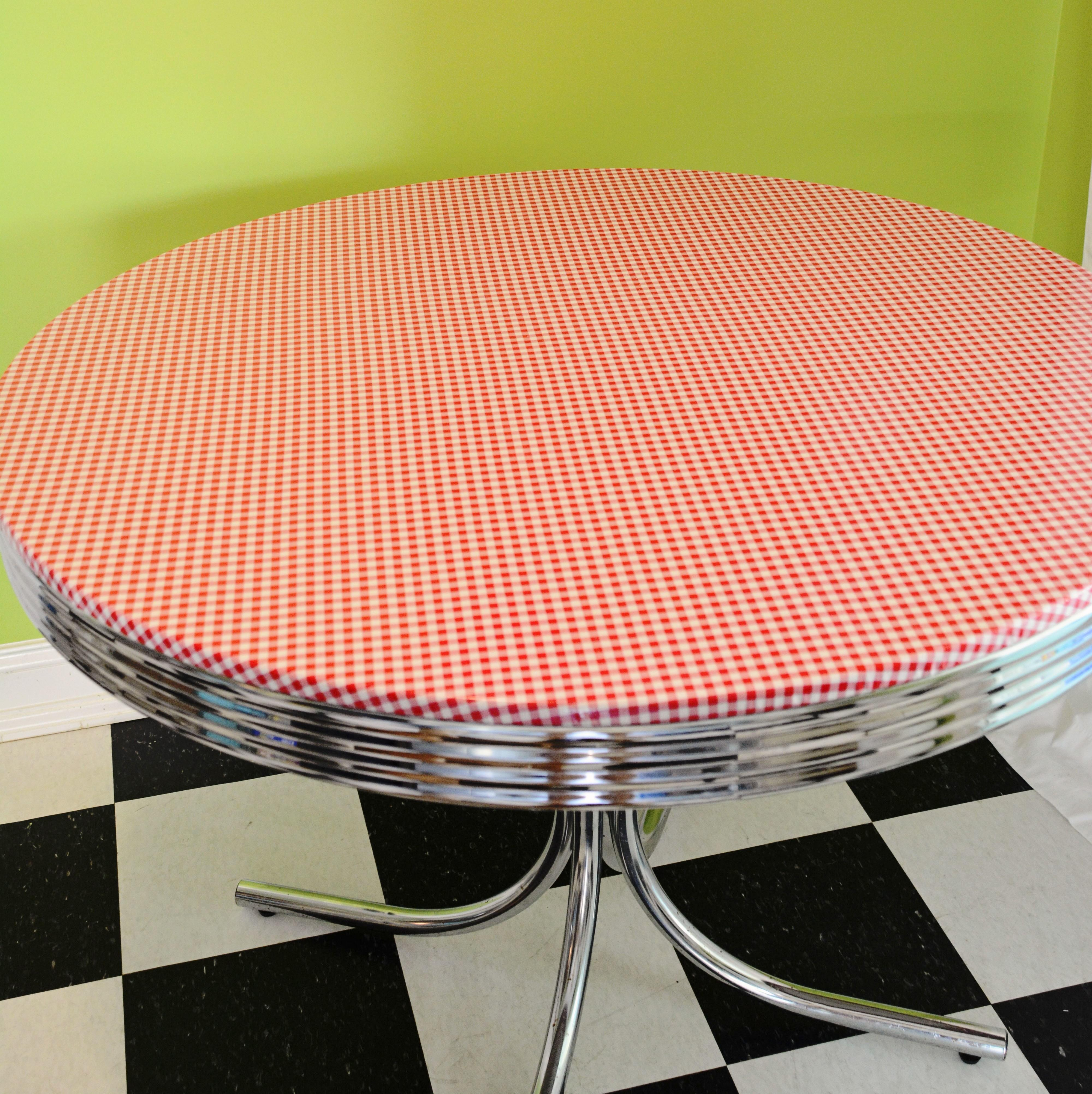 Diy Oilcloth Covered Diner Style Table Called
