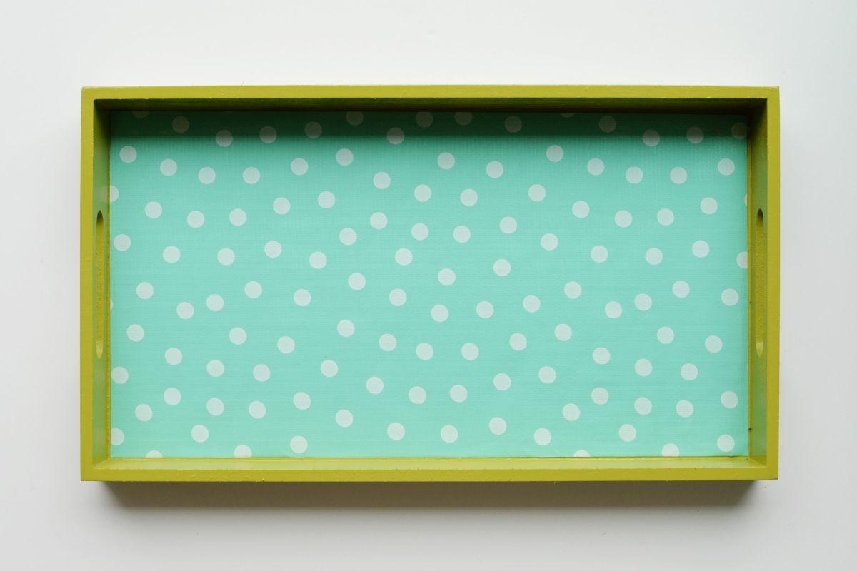 Diy Oilcloth Covered Tray Home Decorating