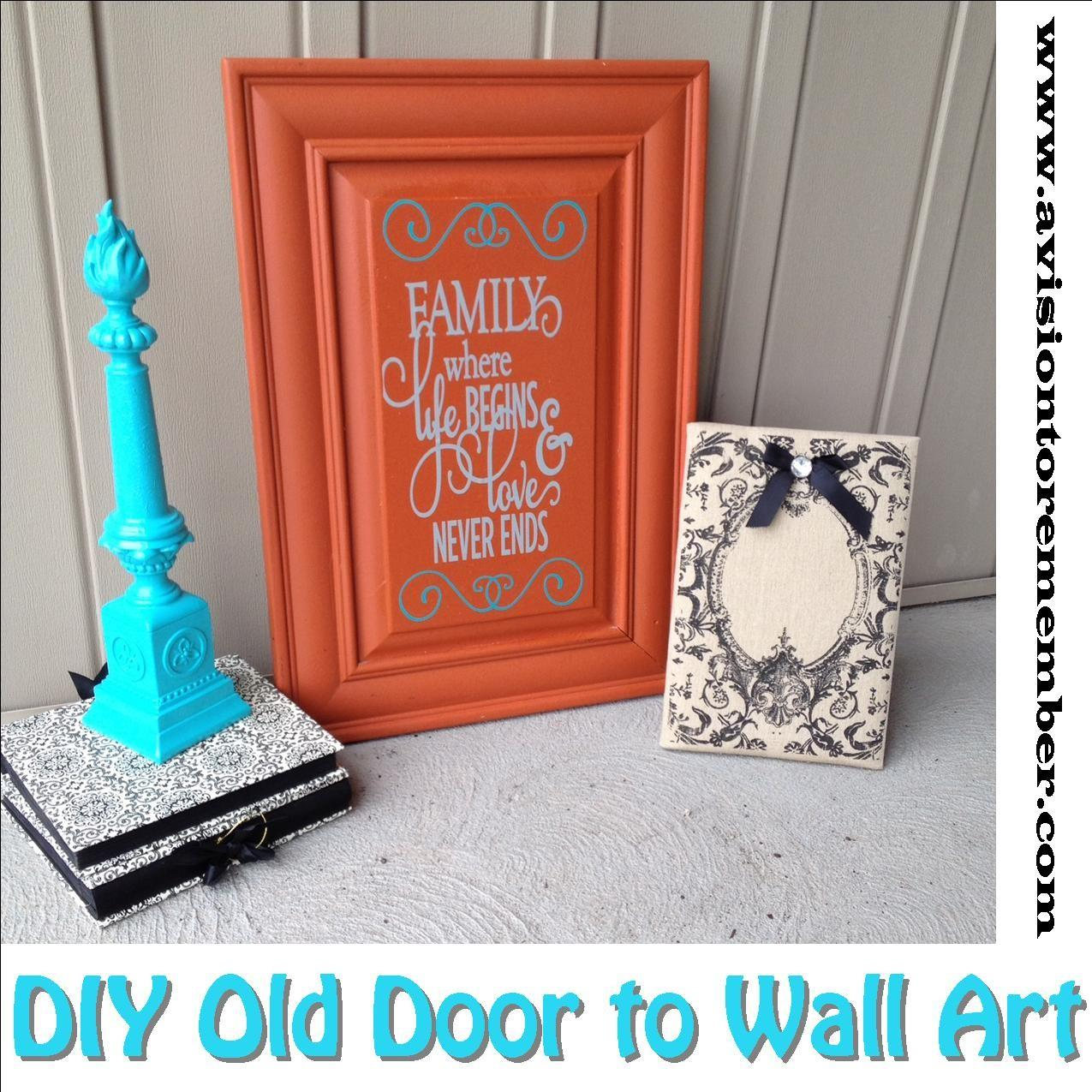 Diy Old Cabinet Door Upcycle Family Room Wall Art Plus
