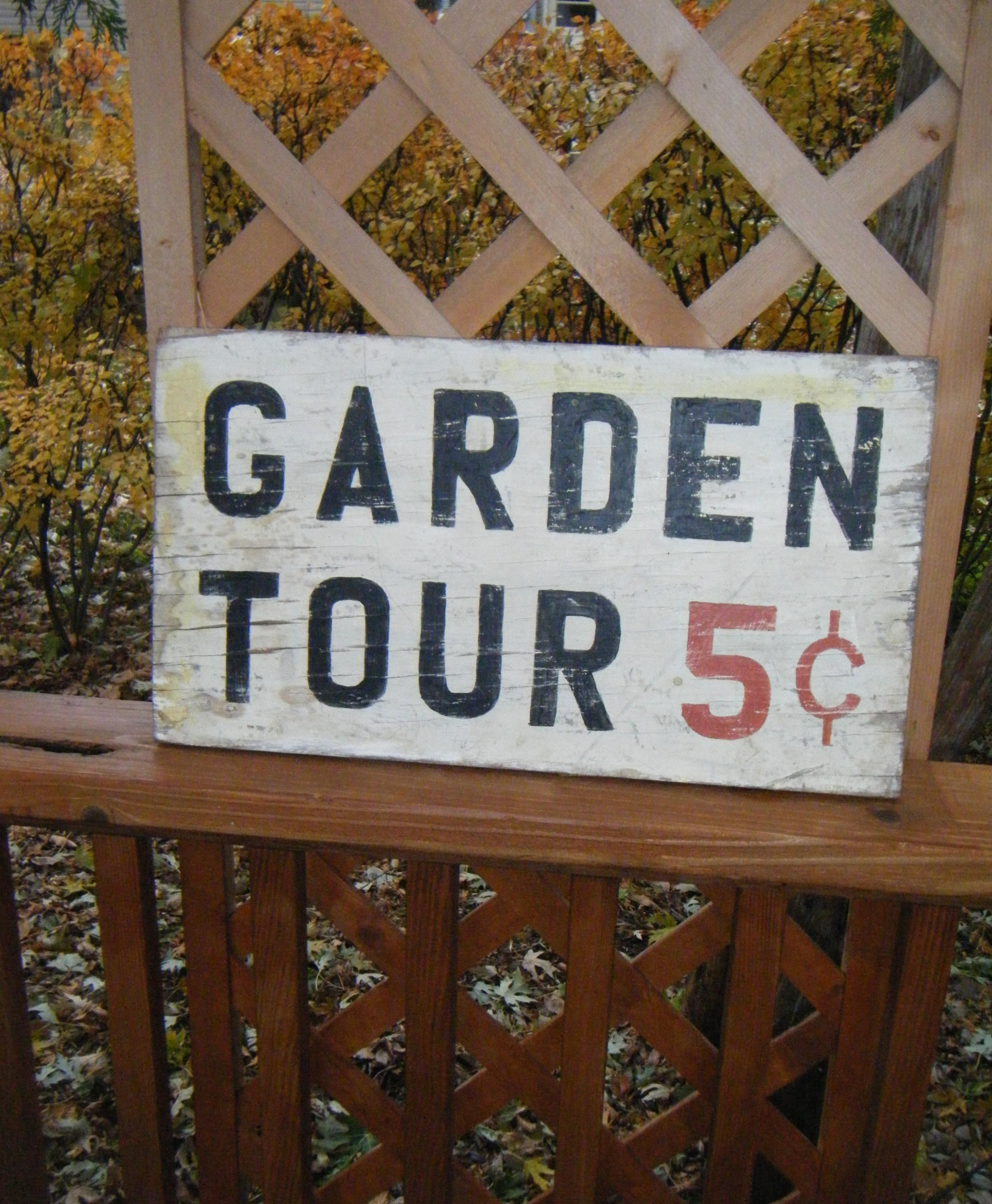 Diy Old Fashioned Garden Sign Simply Chic