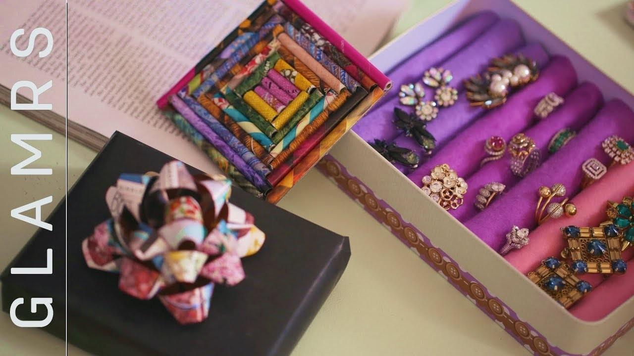 Diy Old Magazine Paper Crafts Coaster Gift Bow