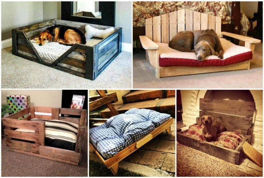 Diy Old Pallet Cushioned Pet Bed