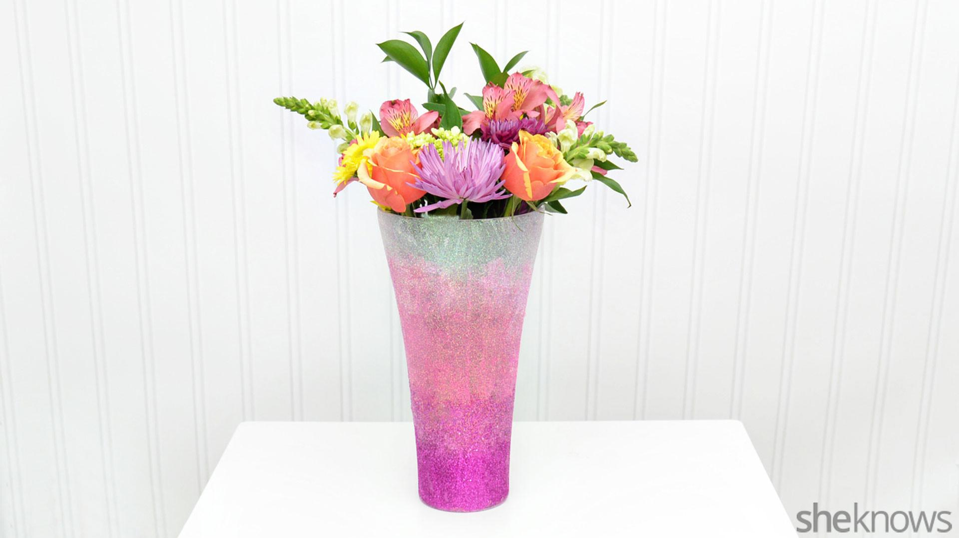 Diy Ombr Glitter Vase Prettiest Way Display
