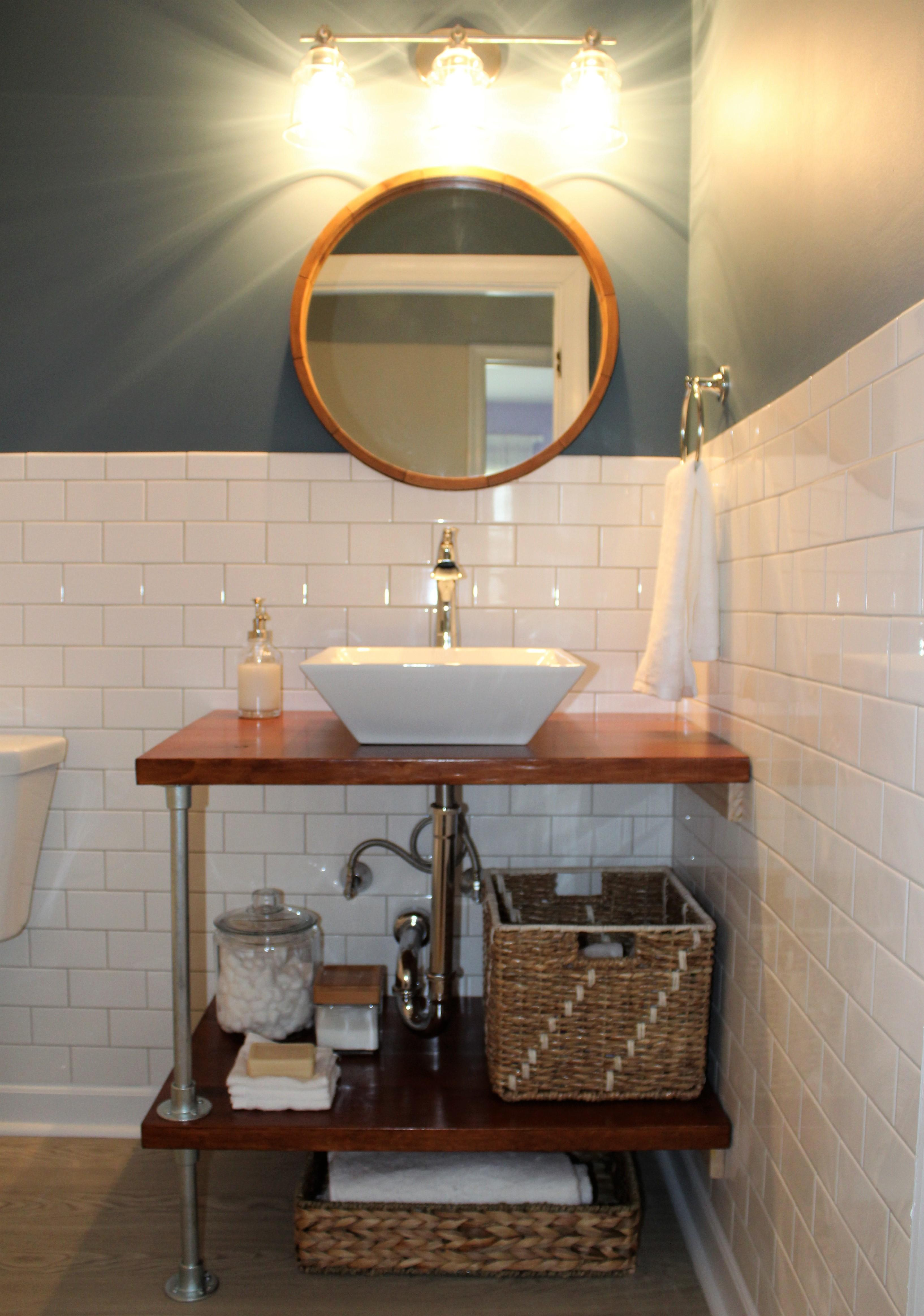 Diy Open Bathroom Vanity Shelves