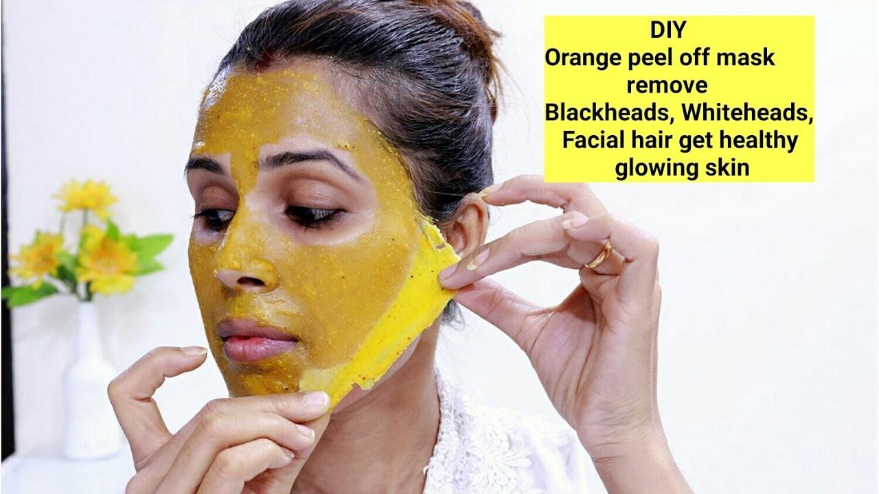 Diy Orange Peel Mask Remove Blackheads Whiteheads