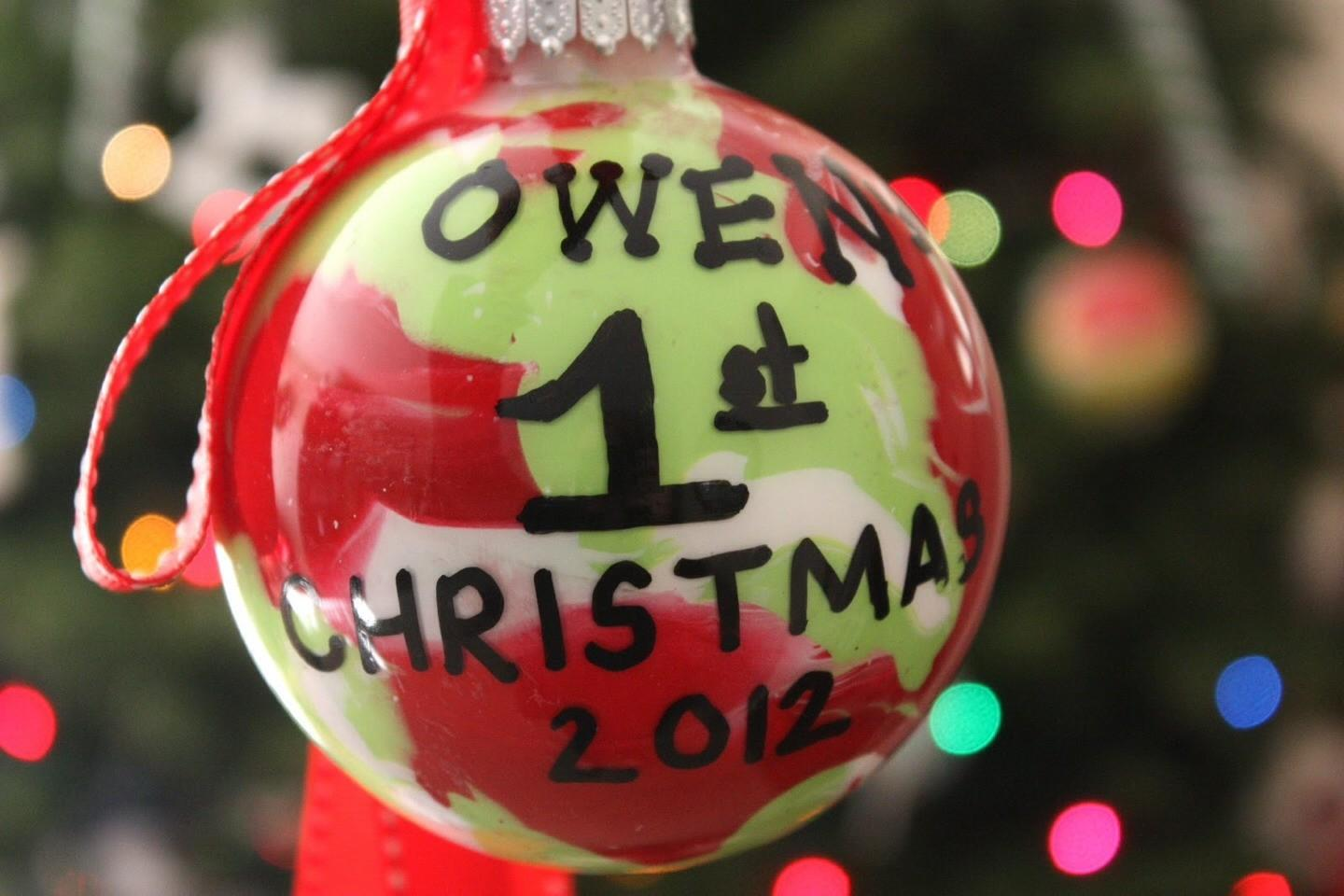 Diy Ornaments Babys First Christmas Musely