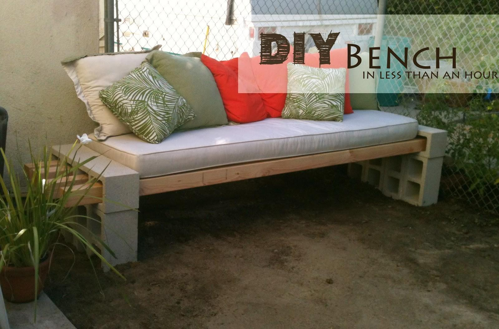 Diy Outdoor Bench Less Than Hour