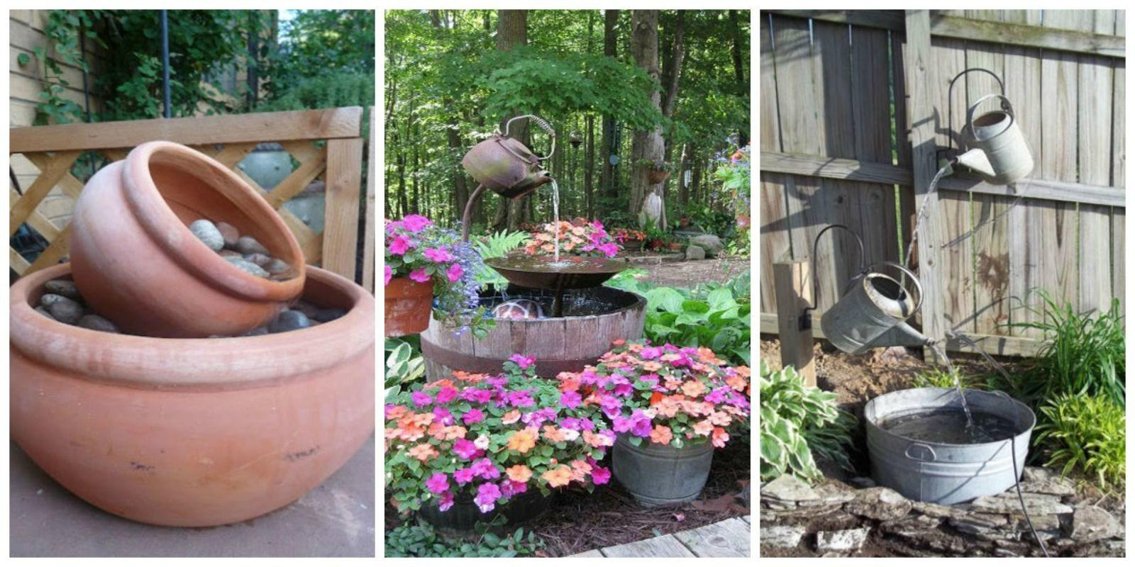 Diy Outdoor Fountain Ideas Make Garden