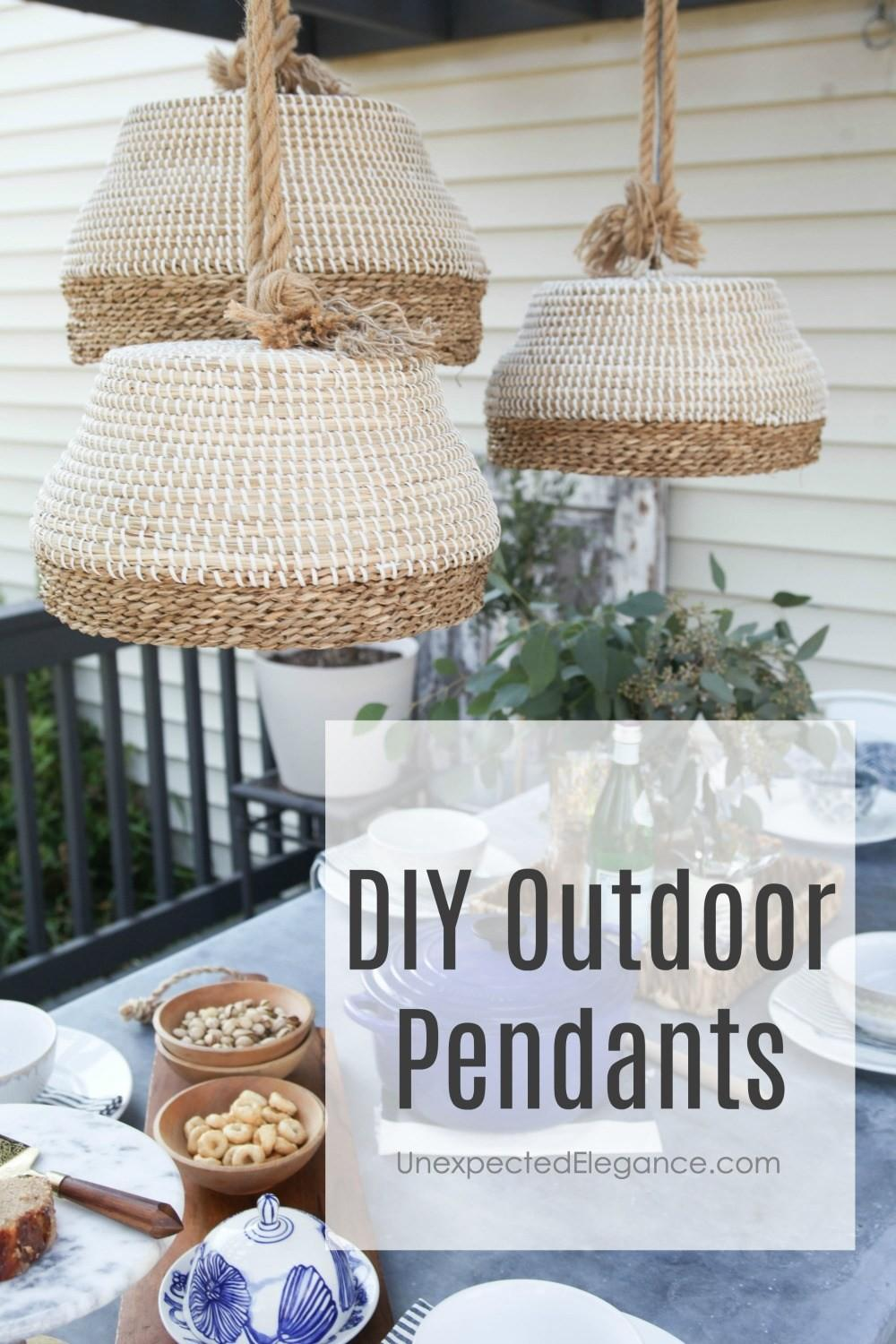 Diy Outdoor Pendant Light Unexpected Elegance