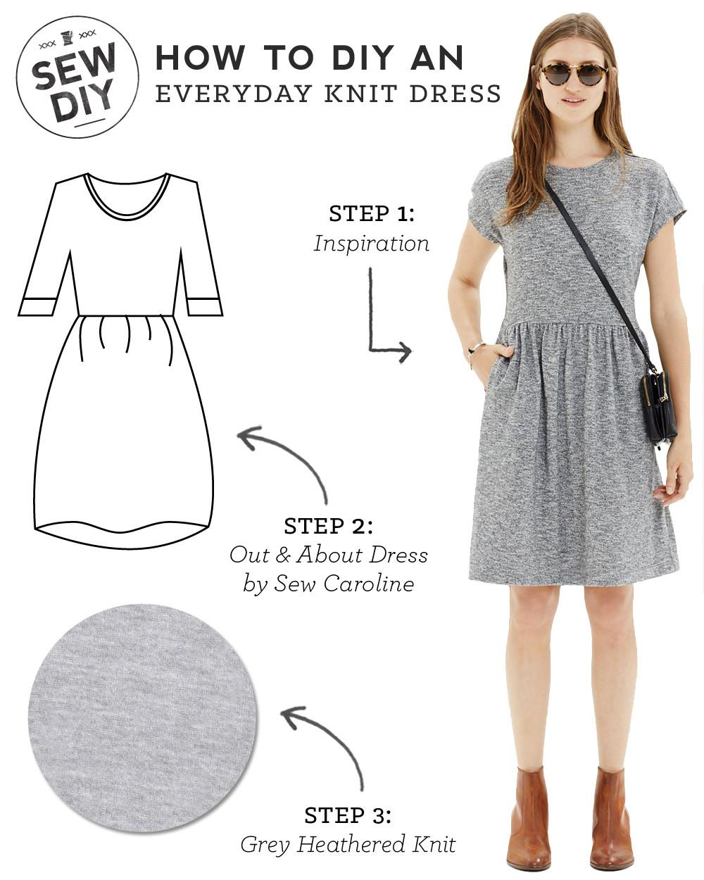 Diy Outfit Everyday Knit Dress Sew