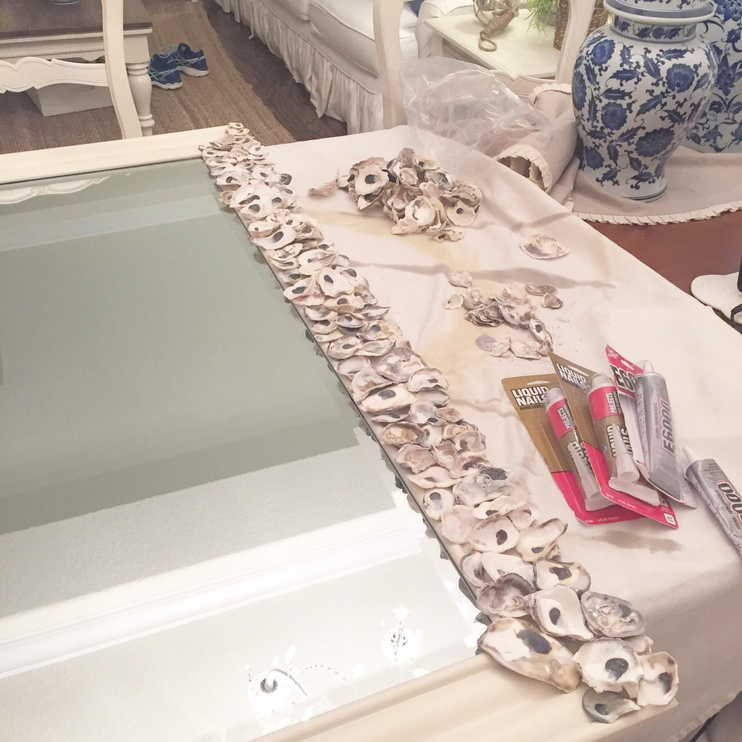 Diy Oyster Shell Mirror Starfish Cottage